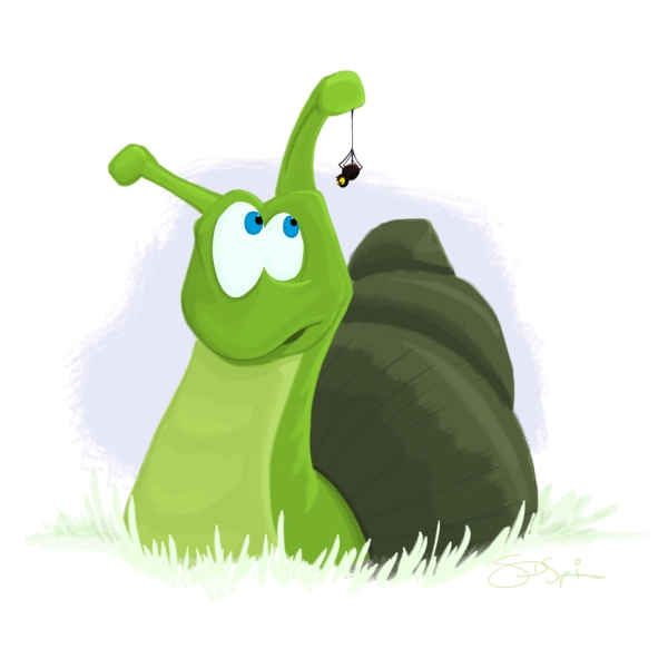 snail, spider, shell, slug, children, kids, grass