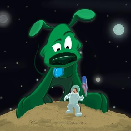 dog, planet, Pluto, space, NASA, alien, cartoon, children, child, kid